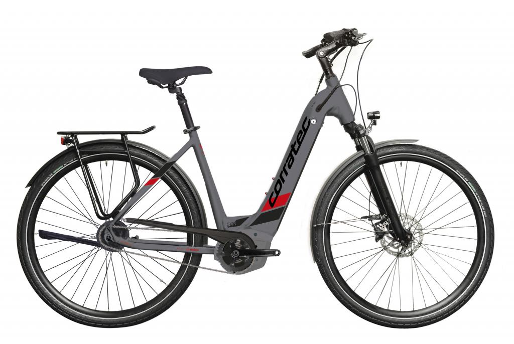 E-Bike Corratec E-Power 28 Urban P5 8S Wave BK25320 Bosch Performance Akku 500 Wh